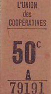 France 50 cent. Paris Union des coopératives