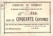 France 50 cent. Premont City - 1915