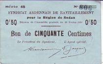 France 50 cent. Sedan Synd. de ravitaillement