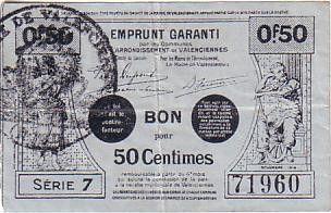 France 50 cent. Valenciennes