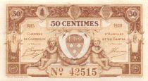 France 50 Centimes - Aurillac and Cantal Chamber of Commerce 1915 - AU