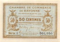 France 50 Centimes - Bayonne Chamber of Commerce 1913 - AU