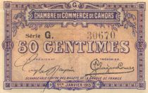 France 50 Centimes - Cahors Chamber of Commerce 1915 - AU