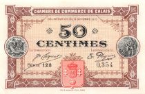 France 50 Centimes - Calais Chamber of Commerce 1915 - AU