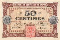 France 50 Centimes - Calais Chamber of Commerce 1916 - AU