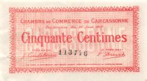 France 50 Centimes - Carcassonne Chamber of Commerce 1917 - XF