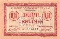 France 50 Centimes - Chambre de Commerce d\'Amiens 1915 - SUP