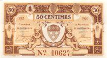 France 50 Centimes - Chambre de Commerce d\'Aurillac et du Cantal 1915 - NEUF