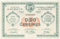 France 50 Centimes - Chambre de Commerce d\'Elbeuf 1917 - P.NEUF