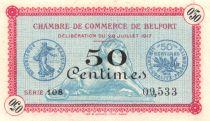 France 50 Centimes - Chambre de Commerce de Belfort 1917 - P.NEUF