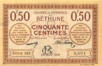 France 50 Centimes - Chambre de Commerce de Béthune 1916 - SUP