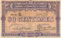 France 50 Centimes - Chambre de Commerce de Cahors 1915 - SPL