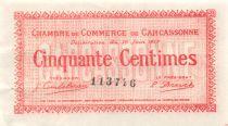 France 50 Centimes - Chambre de Commerce de Carcassonne 1917 - SUP