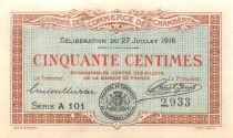 France 50 Centimes - Chambre de Commerce de Chambéry 1916 - SUP