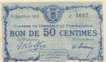 France 50 Centimes - Chambre de Commerce de Châteauroux 1916 - SPL