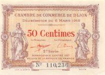 France 50 Centimes - Chambre de Commerce de Dijon 1916 - SPL