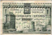 France 50 Centimes - Chambre de Commerce de La Rochelle  12-1915 - TTB