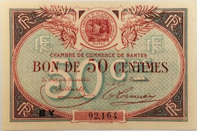 Billet france 50 centimes chambre de commerce de nantes - Chambre commerce nantes ...