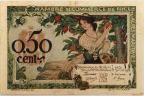 France 50 Centimes - Chambre de Commerce de Nice 1920 - TTB