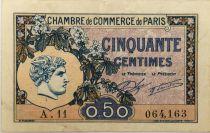 France 50 Centimes - Chambre de Commerce de Paris 1920 - TTB