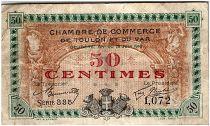 France 50 Centimes - Chambre de Commerce de Toulon 1916 - TTB