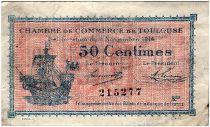 France 50 Centimes - Chambre de Commerce de Toulouse 1914 - TTB