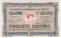 France 50 Centimes - Chambre de Commerce de Troyes 1918 -  p.Neuf
