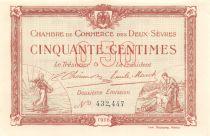 France 50 Centimes - Chambre de Commerce des Deux-Sèvres 1916 - SPL