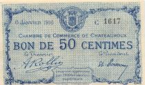France 50 Centimes - Châteauroux Chamber of Commerce 1916 - AU