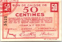France 50 centimes , Colmar Chambre de Commerce, série A
