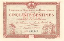 France 50 Centimes - Deux-Sèvres Chamber of Commerce 1916 - AU