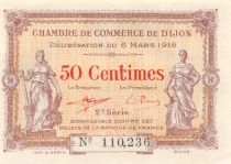 France 50 Centimes - Dijon Chamber of Commerce 1916 - AU