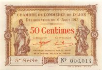 France 50 Centimes - Dijon Chamber of Commerce 1917 - aUNC