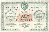 France 50 Centimes - Elbeuf Chamber of Commerce 1917 - aUNC