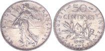France 50 Centimes,  Semeuse - 1907 - SUP