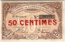France 50 Centimes - Sens Chamber of Commerce 1916 - VF