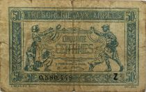 France 50 Centimes - Trésorerie aux armées  - 1919 Série Z - PTB