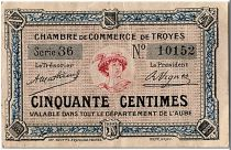 France 50 Centimes - Troyes Chamber of Commerce Ref.1921 - VF to XF
