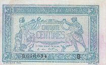 France 50 Centimes  Trésorerie aux armées  - 1917 D.640.094