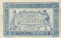 France 50 Centimes 1915 - Trésorerie aux armées - Série B
