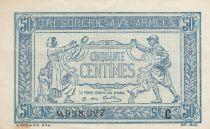 France 50 Centimes 1915 - Trésorerie aux armées - Série C