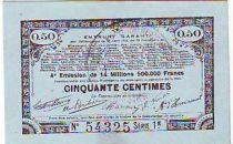 France 50 Centimes 70 communes - 23/04/1915