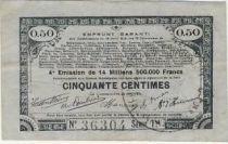 France 50 Centimes 70 communes