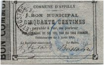 France 50 Centimes Appilly Bon Municipal 1914