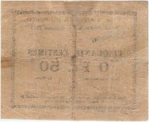 France 50 Centimes Arleux City - 1915