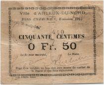 France 50 Centimes Arleux Ville - 1915