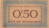 France 50 Centimes Bon de Solidarité - Pétain - 1941-1942 - TTB