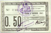 France 50 Centimes Bouvignies Commune - 1915