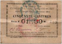 France 50 Centimes Brunemont City - 1914
