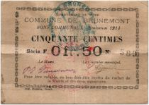 France 50 Centimes Brunemont Commune - 1914